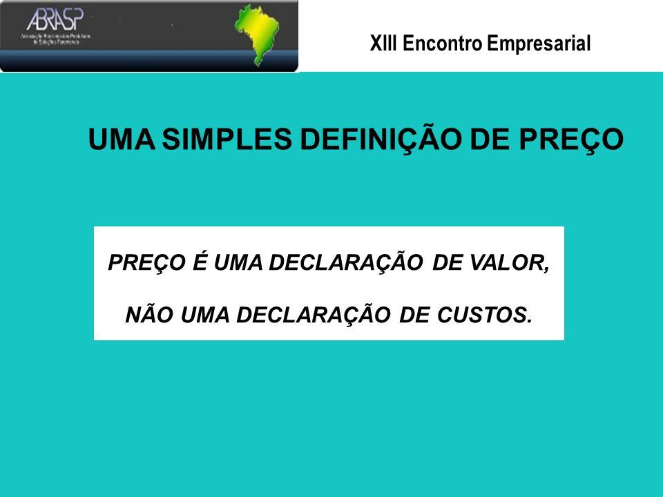 Xlll Encontro Empresarial Poucas empresas estão dando à variável preço a importância que merece.