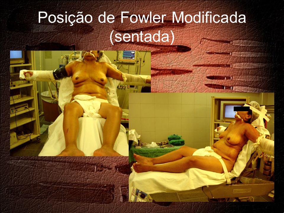 Posição de Fowler Modificada (sentada)