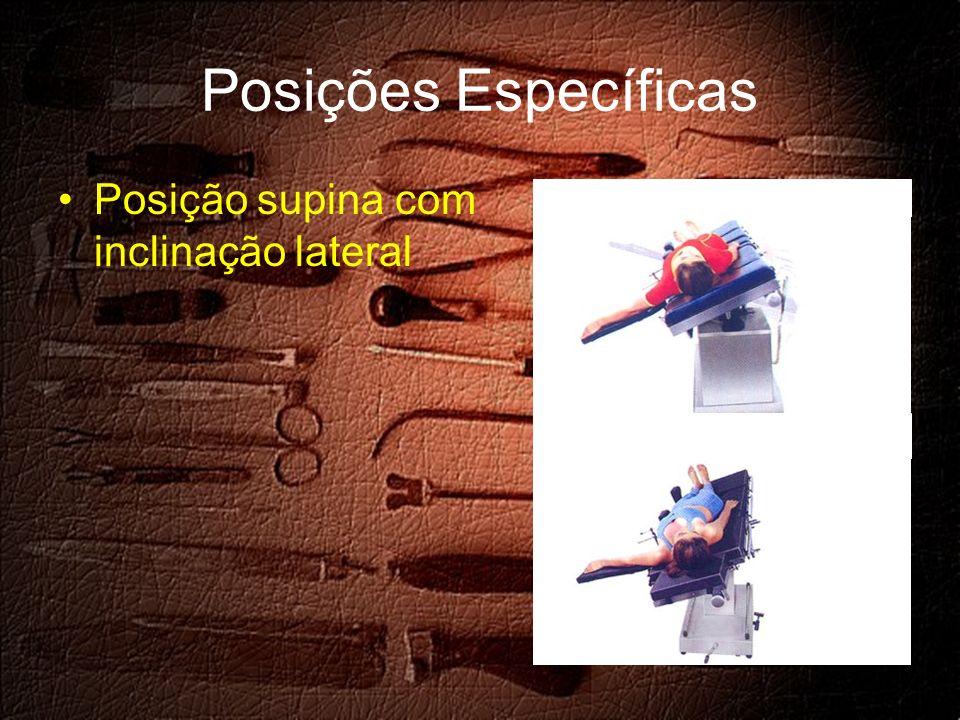 Posições Específicas Posição supina com inclinação lateral