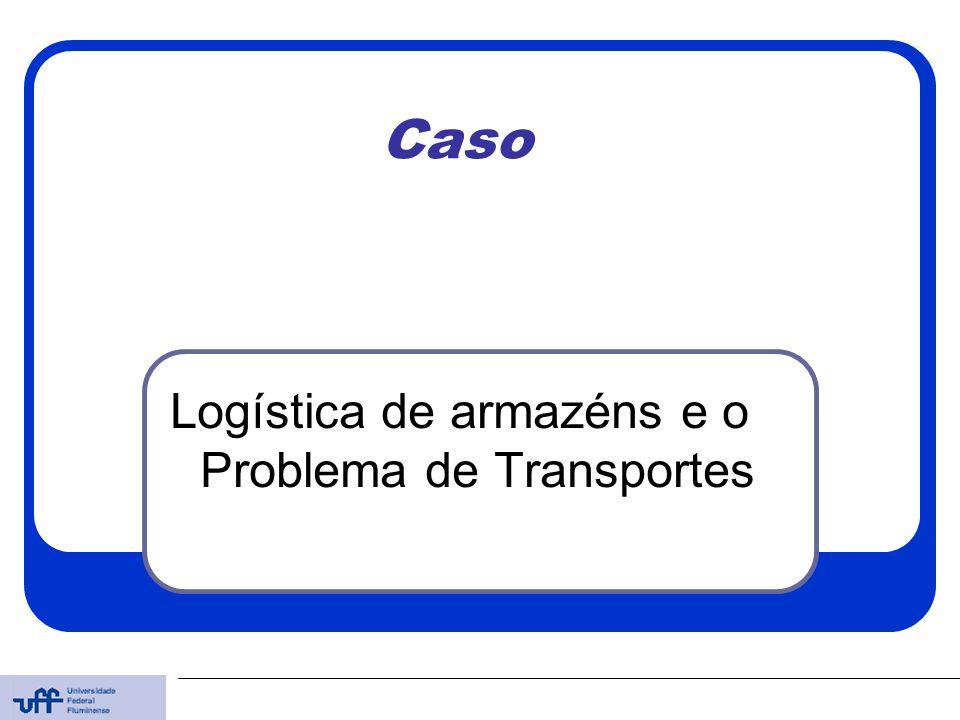 Caso Logística de armazéns e o Problema de Transportes