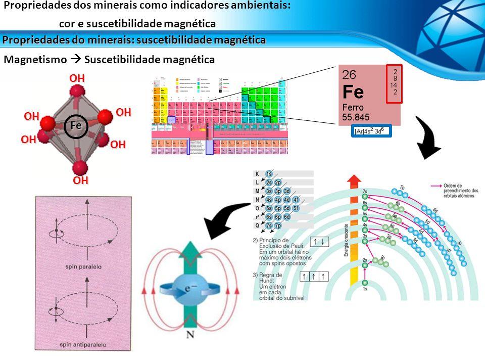 Propriedades dos minerais como indicadores ambientais: cor e suscetibilidade magnética Propriedades do minerais: suscetibilidade magnética Magnetismo