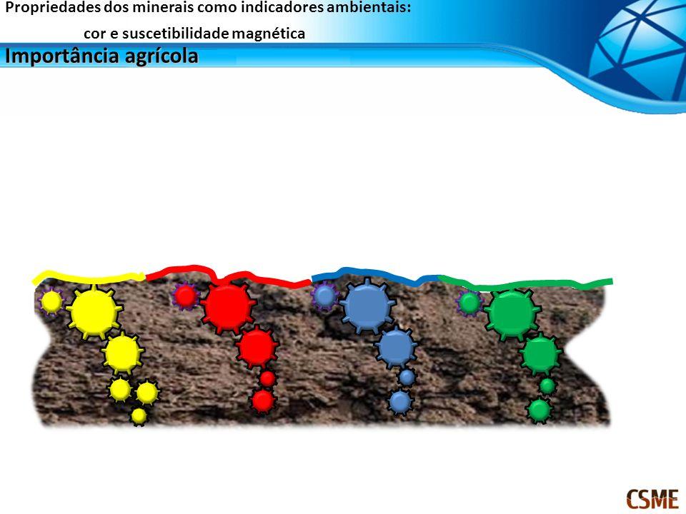 Importância agrícola Propriedades dos minerais como indicadores ambientais: cor e suscetibilidade magnética