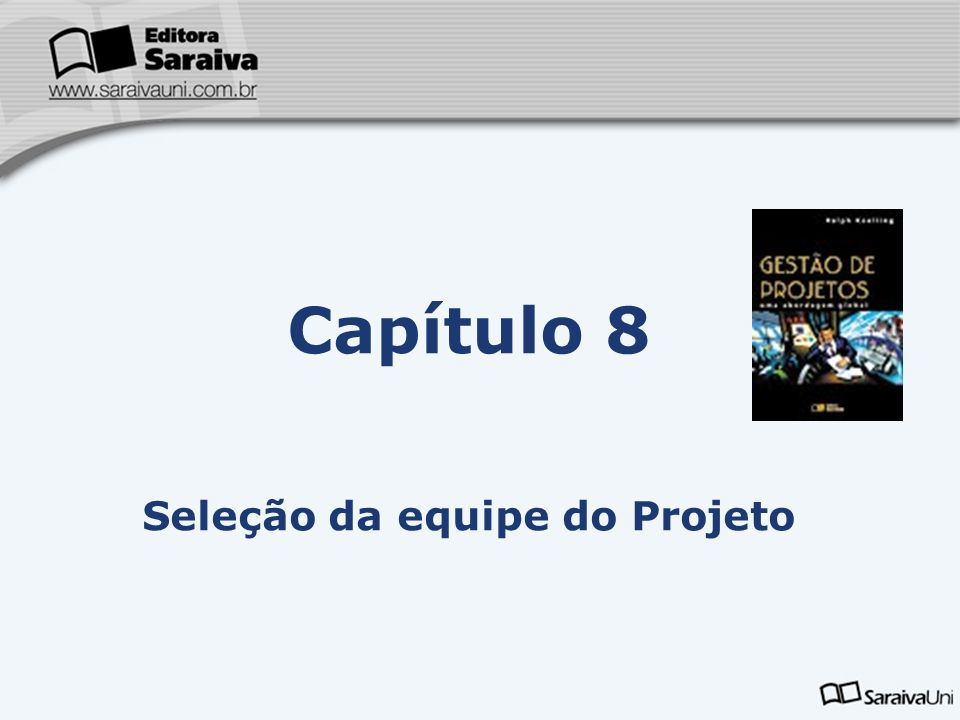 Capítulo 8 Seleção da equipe do Projeto
