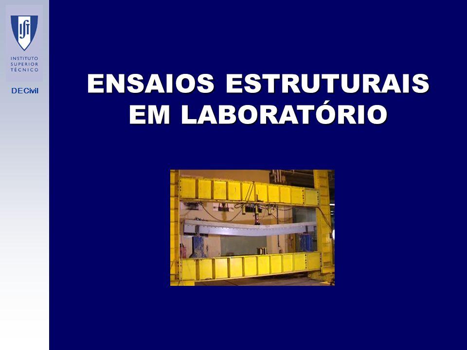 DECivil ENSAIOS ESTRUTURAIS EM LABORATÓRIO SISTEMAS DE APLICAÇÃO DE CARGAS - Máquinas duras.