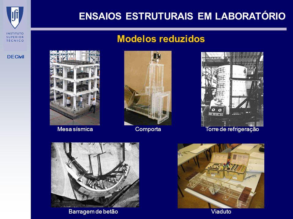 DECivil TIPOS DE ENSAIO ESTRUTURAL EM LABORATÓRIO ENSAIOS ESTRUTURAIS EM LABORATÓRIO - Modelos reduzidos. Validade em regime elástico (modelos numéric