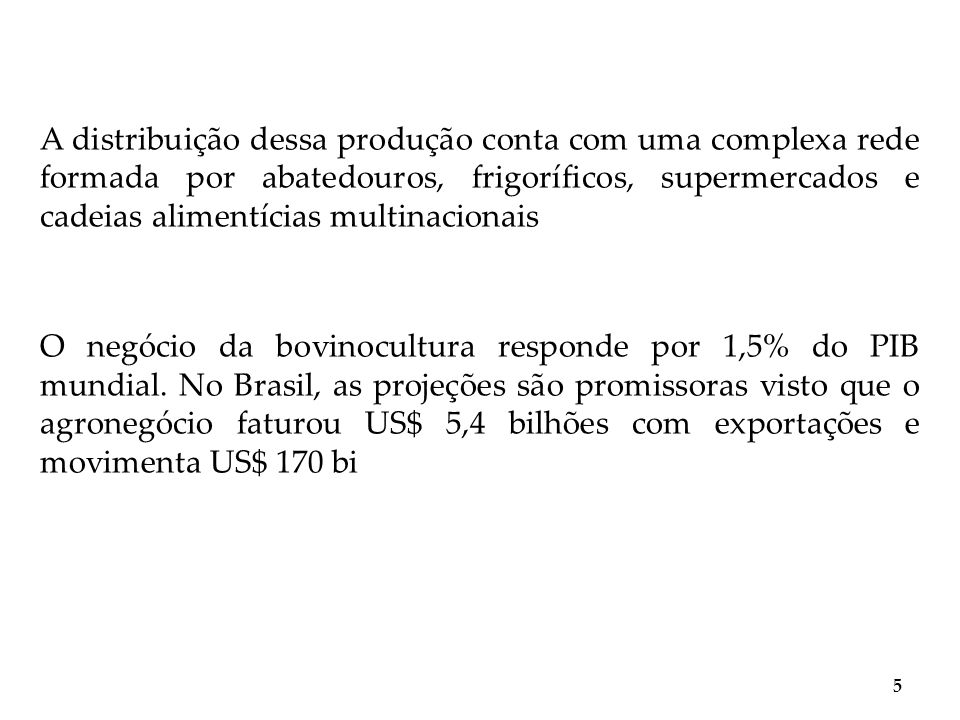 Bovinocultura, algunas constataciones 6