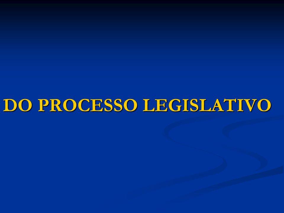Artigo 59 – O processo legislativo compreende a elaboração de: I – emendas à Constituição; II – leis complementares; III – leis ordinárias; IV – leis delegadas; V – medidas provisórias; VI – decretos legislativos; VII – resoluções.