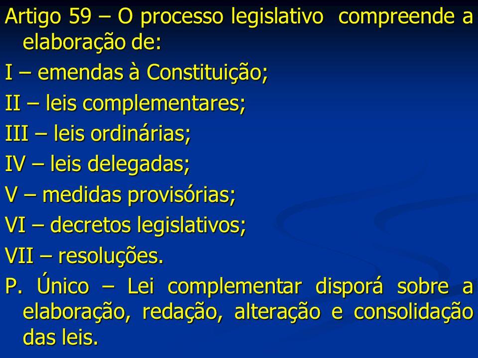 DA EMENDA À CONSTITUIÇÃO Art.