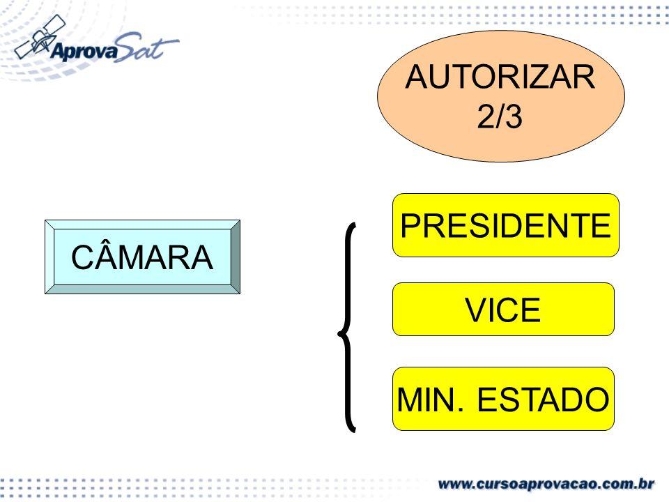CÂMARA AUTORIZAR 2/3 PRESIDENTE VICE MIN. ESTADO