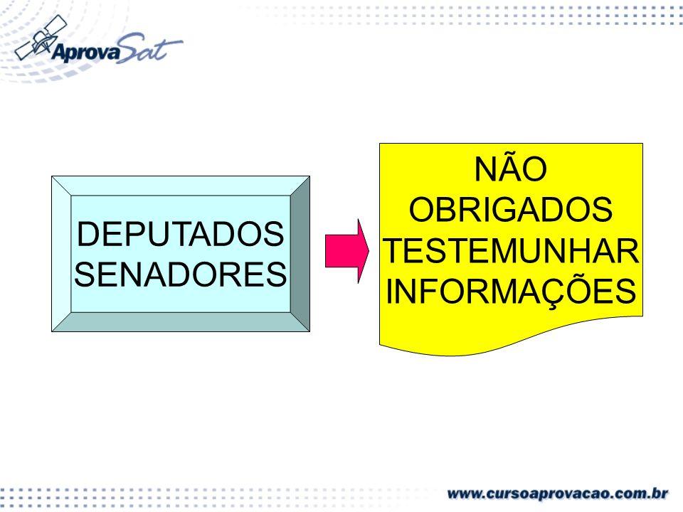 DEPUTADOS SENADORES NÃO OBRIGADOS TESTEMUNHAR INFORMAÇÕES