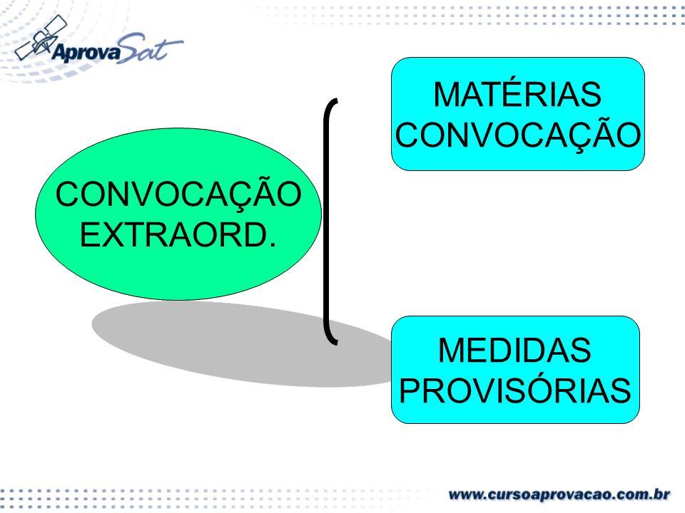 CONVOCAÇÃO EXTRAORD. MATÉRIAS CONVOCAÇÃO MEDIDAS PROVISÓRIAS