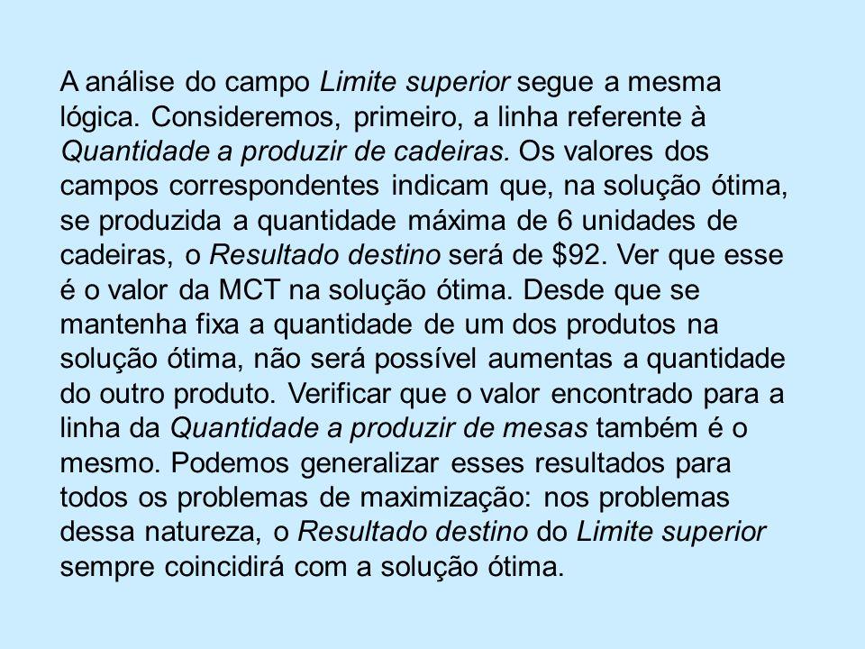 A análise do campo Limite superior segue a mesma lógica.