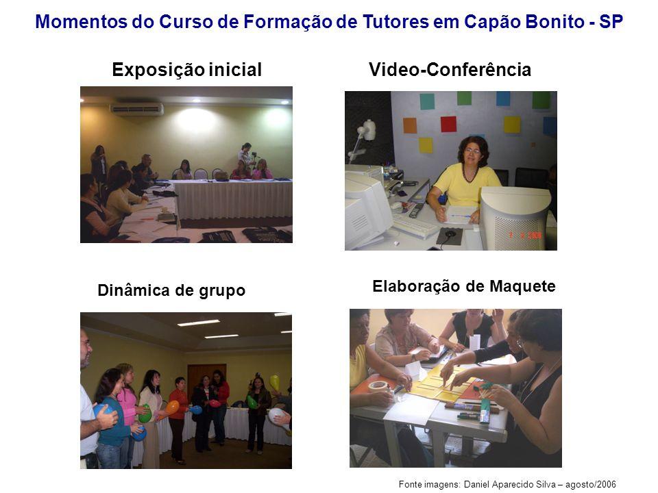 Fonte imagens: Daniel Aparecido Silva – agosto/2006 Exposição inicial Momentos do Curso de Formação de Tutores em Capão Bonito - SP Dinâmica de grupo
