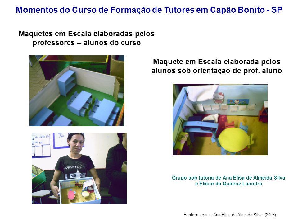 Fonte imagens: Ana Elisa de Almeida Silva (2006) Momentos do Curso de Formação de Tutores em Capão Bonito - SP Maquete em Escala elaborada pelos aluno