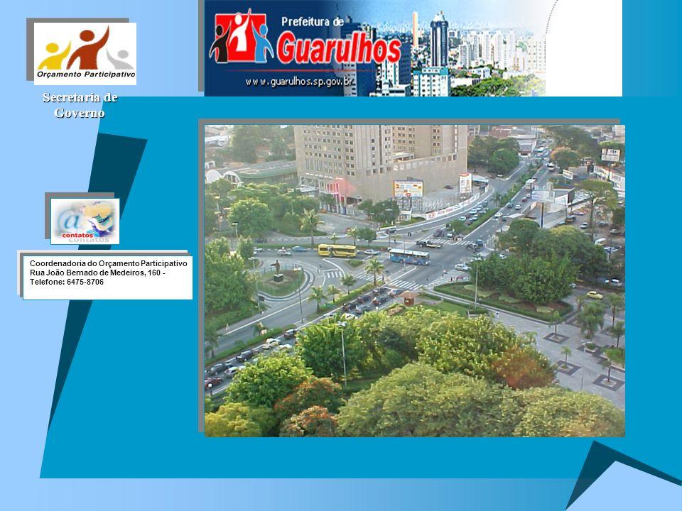 Secretaria de Governo Coordenadoria do Orçamento Participativo Rua João Bernado de Medeiros, 160 - Telefone: 6475-8706