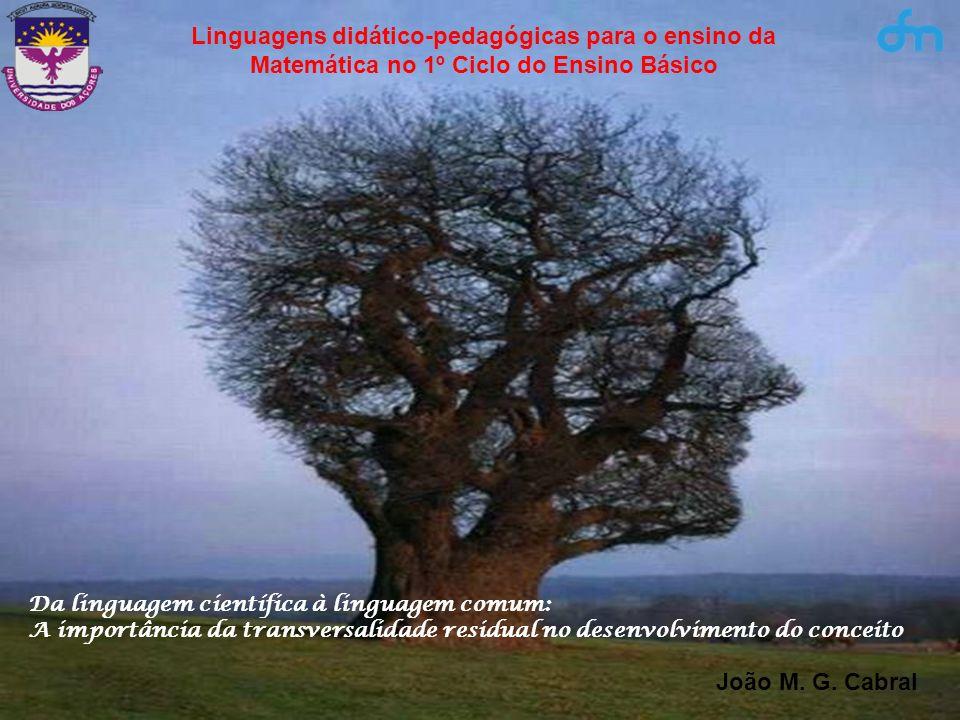 Linguagens didático-pedagógicas para o ensino da Matemática no 1º Ciclo do Ensino Básico Da linguagem científica à linguagem comum: A importância da t