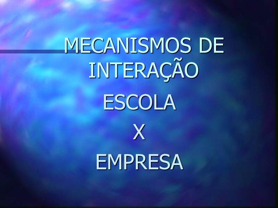 MECANISMOS DE INTERAÇÃO ESCOLAXEMPRESA