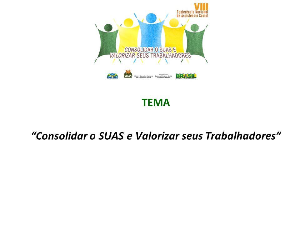 SUBTEMAS * Estratégias para a estruturação da gestão do trabalho no SUAS.
