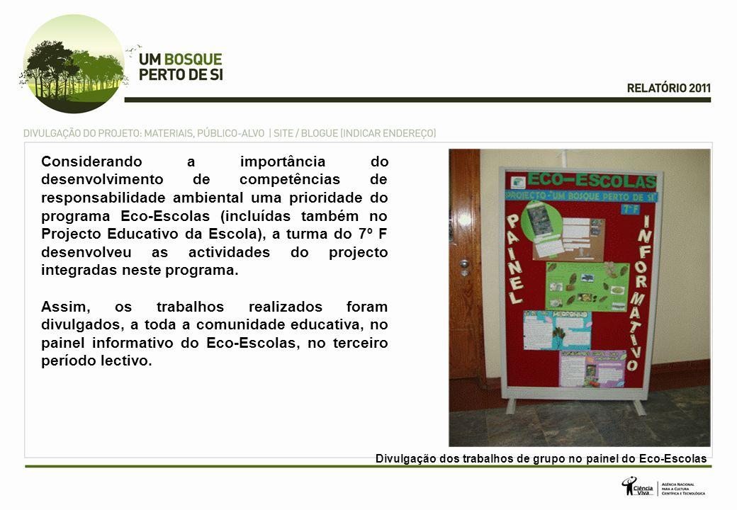 Considerando a importância do desenvolvimento de competências de responsabilidade ambiental uma prioridade do programa Eco-Escolas (incluídas também n