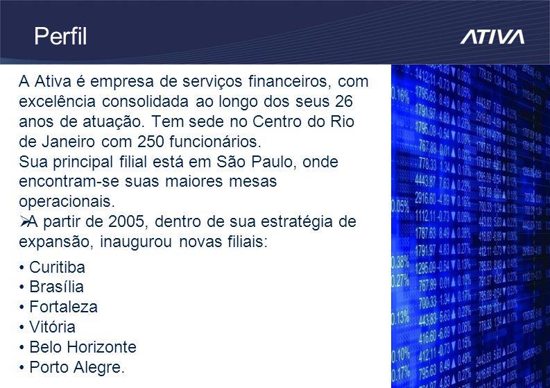 Perfil A Ativa é empresa de serviços financeiros, com excelência consolidada ao longo dos seus 26 anos de atuação.