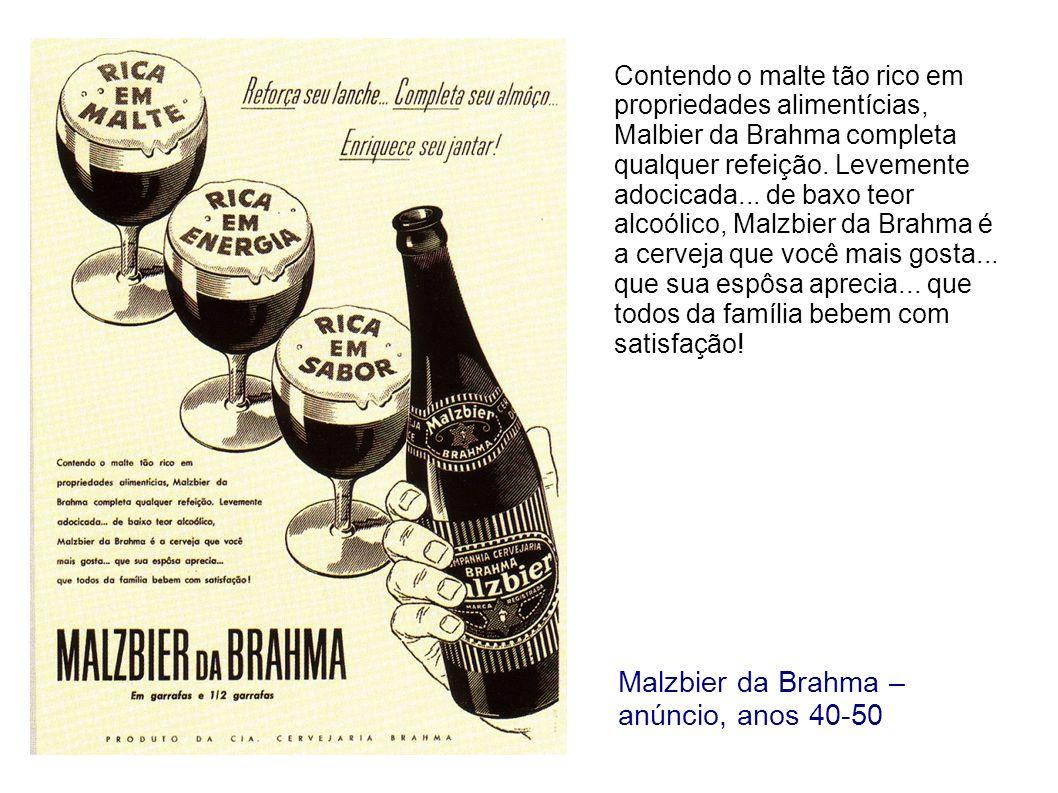 Malzbier da Brahma – cartaz, anos 50