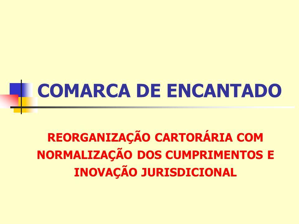 COMARCA DE ENCANTADO REORGANIZAÇÃO CARTORÁRIA COM NORMALIZAÇÃO DOS CUMPRIMENTOS E INOVAÇÃO JURISDICIONAL