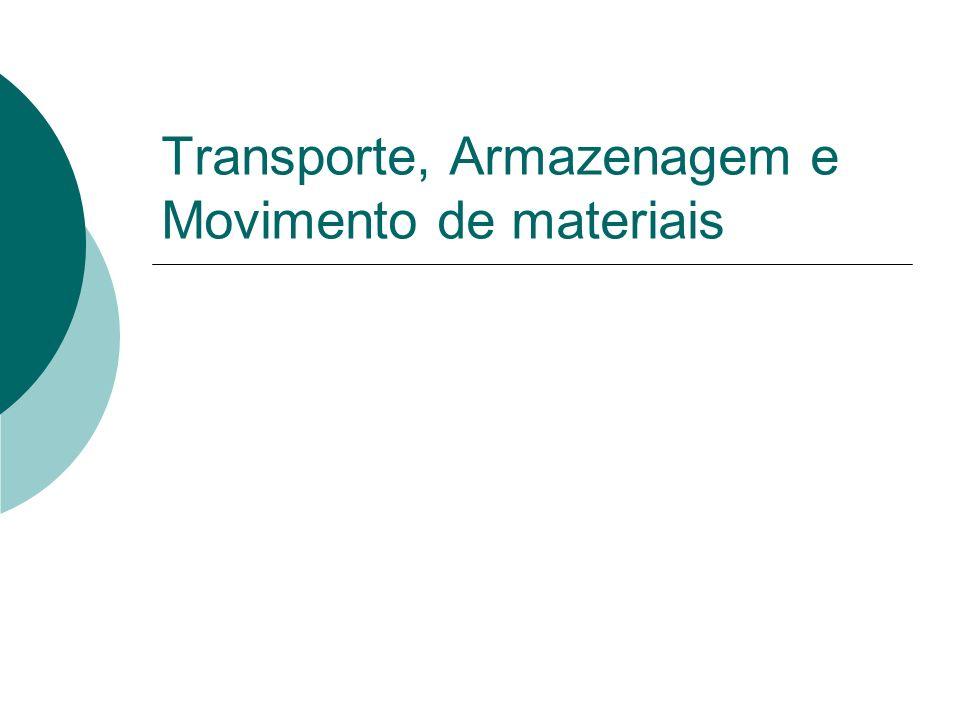 Sumário Transporte Rodoviário Fluvial Aéreo Ferroviário Marítimo Armazenagem Estoques Movimento de materiais