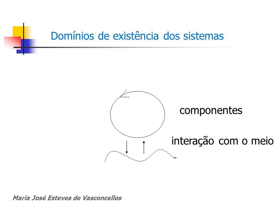 Maria José Esteves de Vasconcellos Domínios de existência dos sistemas componentes interação com o meio