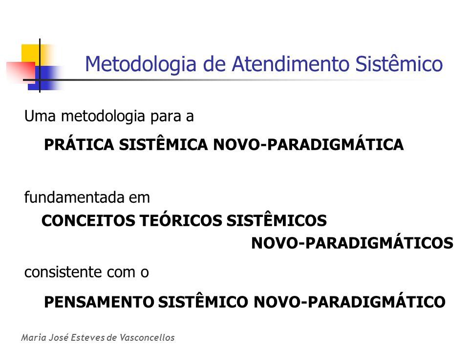Metodologia de Atendimento Sistêmico Uma metodologia para a PRÁTICA SISTÊMICA NOVO-PARADIGMÁTICA fundamentada em CONCEITOS TEÓRICOS SISTÊMICOS NOVO-PA