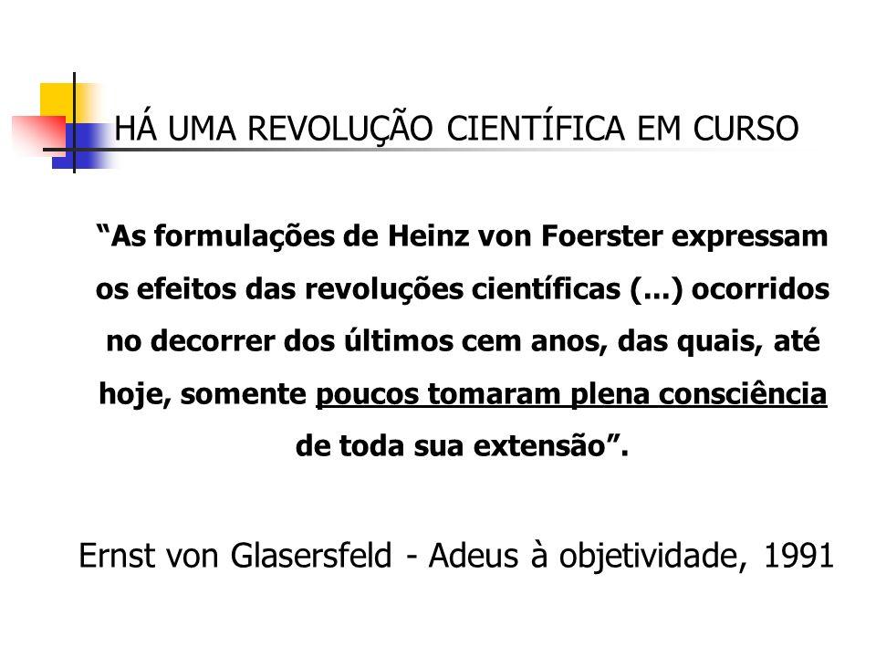 HÁ UMA REVOLUÇÃO CIENTÍFICA EM CURSO As formulações de Heinz von Foerster expressam os efeitos das revoluções científicas (...) ocorridos no decorrer