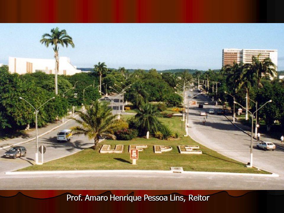 Prof. Amaro Henrique Pessoa Lins, Reitor