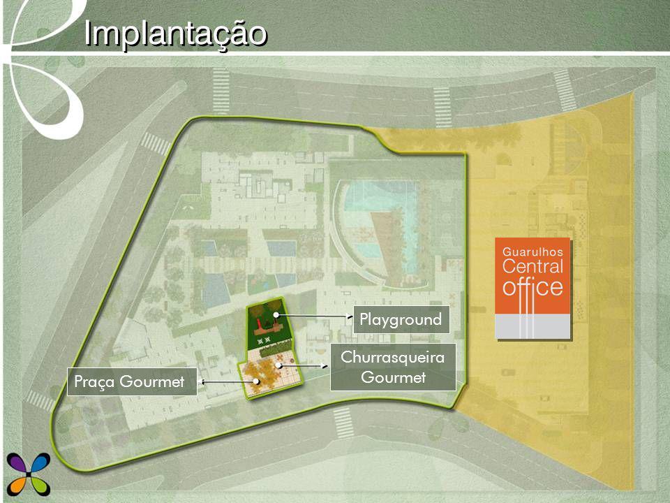 Implantação Playground Churrasqueira Gourmet Praça Gourmet