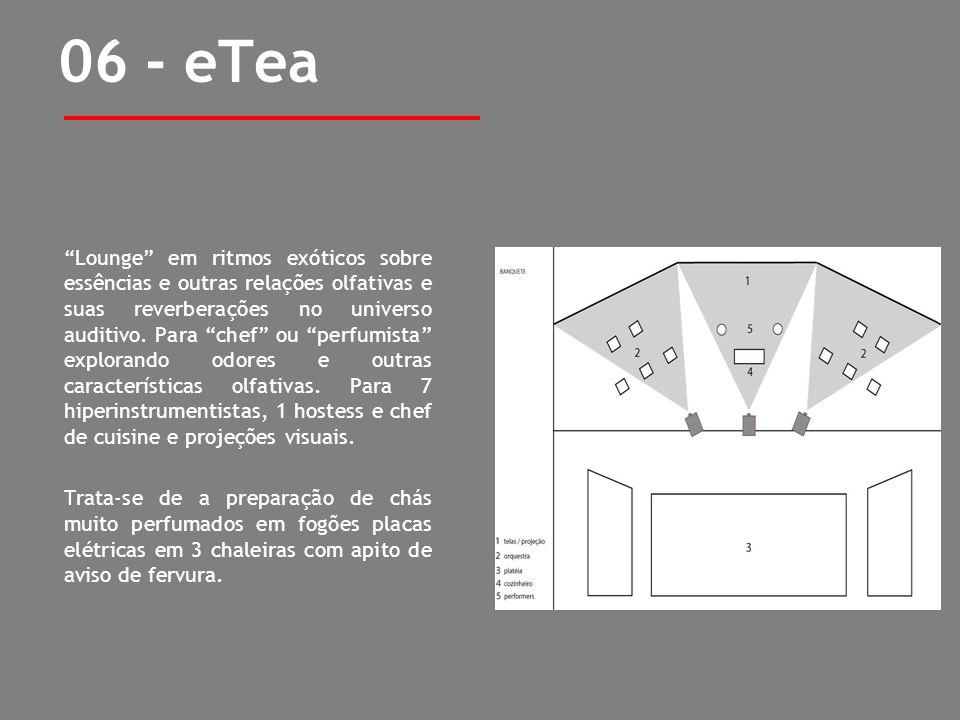06 - eTea Lounge em ritmos exóticos sobre essências e outras relações olfativas e suas reverberações no universo auditivo. Para chef ou perfumista exp