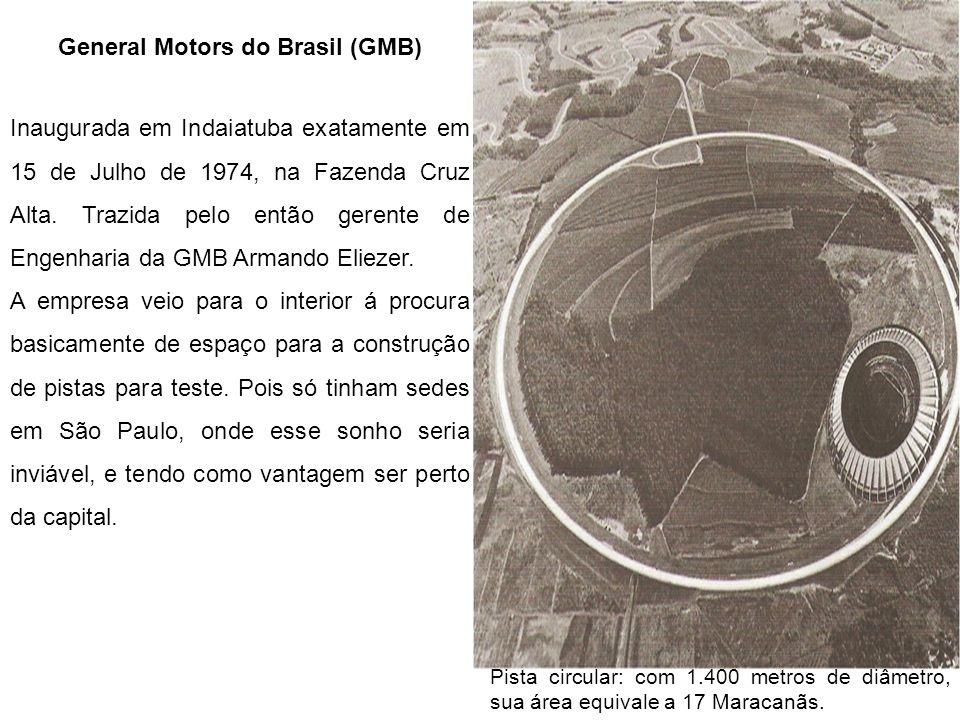 General Motors do Brasil (GMB) Inaugurada em Indaiatuba exatamente em 15 de Julho de 1974, na Fazenda Cruz Alta. Trazida pelo então gerente de Engenha