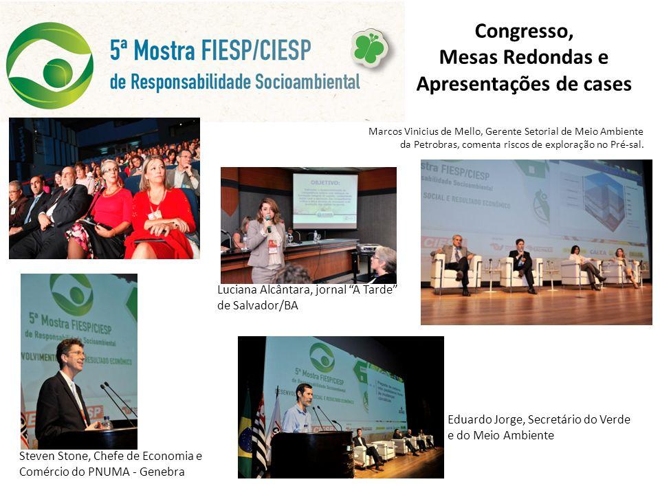 Congresso, Mesas Redondas e Apresentações de cases Marcos Vinicius de Mello, Gerente Setorial de Meio Ambiente da Petrobras, comenta riscos de exploração no Pré-sal.