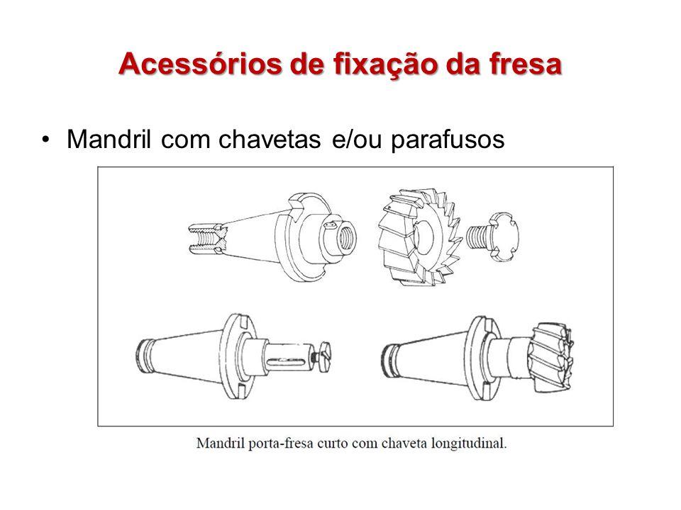Acessórios de fixação da fresa Mandril com chavetas e/ou parafusos