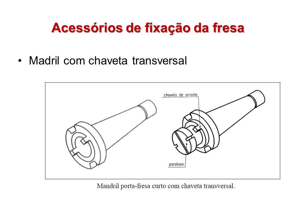 Acessórios de fixação da fresa Madril com chaveta transversal