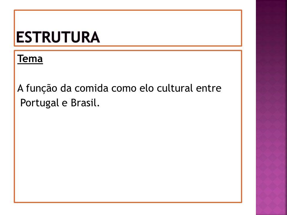 Tema A função da comida como elo cultural entre Portugal e Brasil.