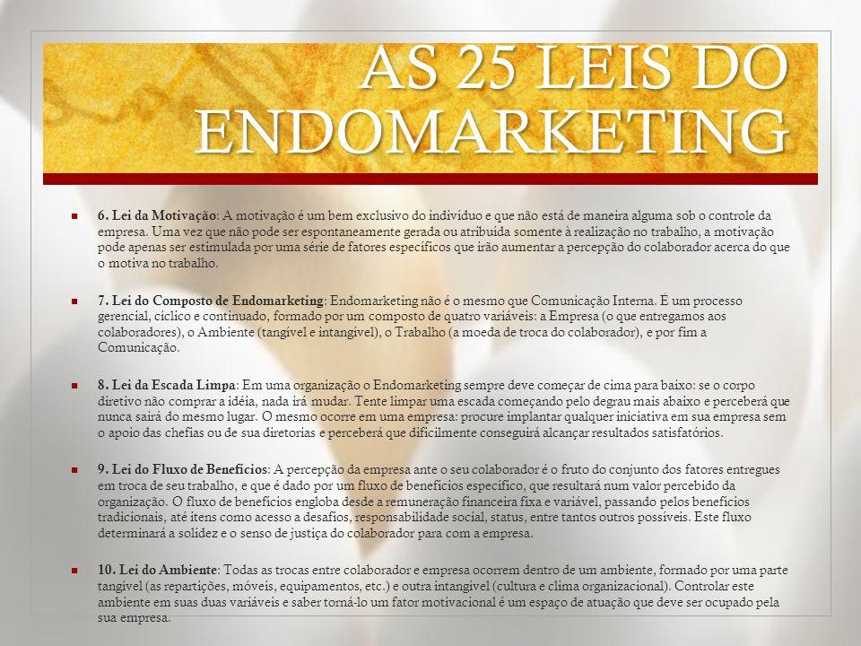 AS 25 LEIS DO ENDOMARKETING 6.