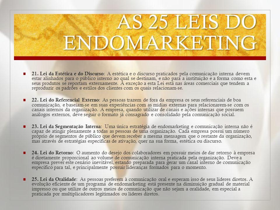 AS 25 LEIS DO ENDOMARKETING 21.
