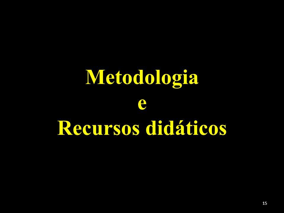 15 Metodologia e Recursos didáticos