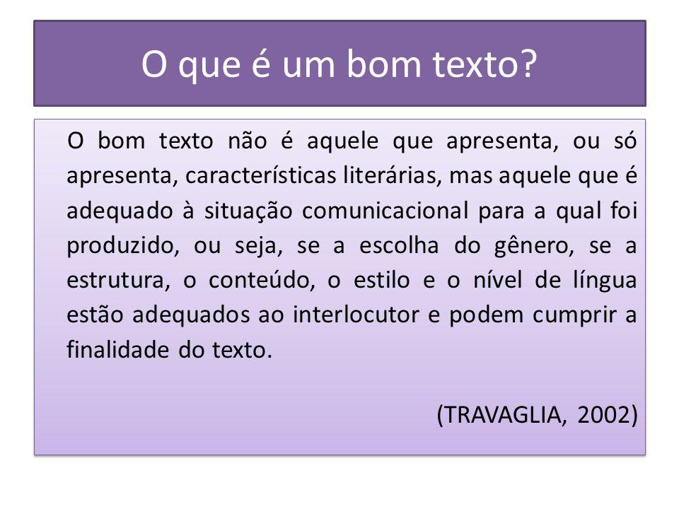 O que dizem os PCNS: Todo texto se organiza dentro de determinado gênero em função das intenções comunicativas, como parte das condições de produção dos discursos, as quais geram usos sociais que os determinam (Brasil, 1998.