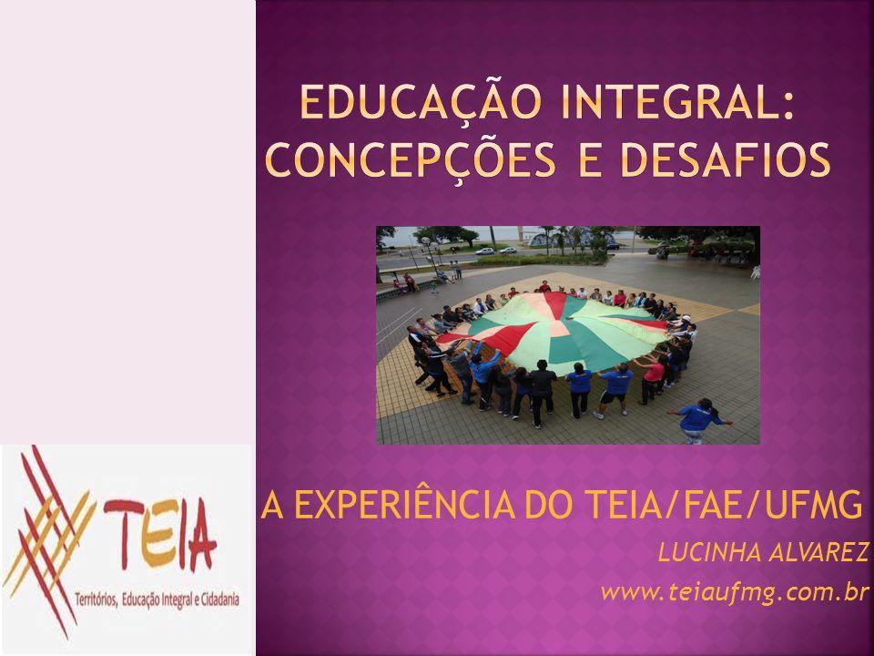 A EXPERIÊNCIA DO TEIA/FAE/UFMG LUCINHA ALVAREZ www.teiaufmg.com.br