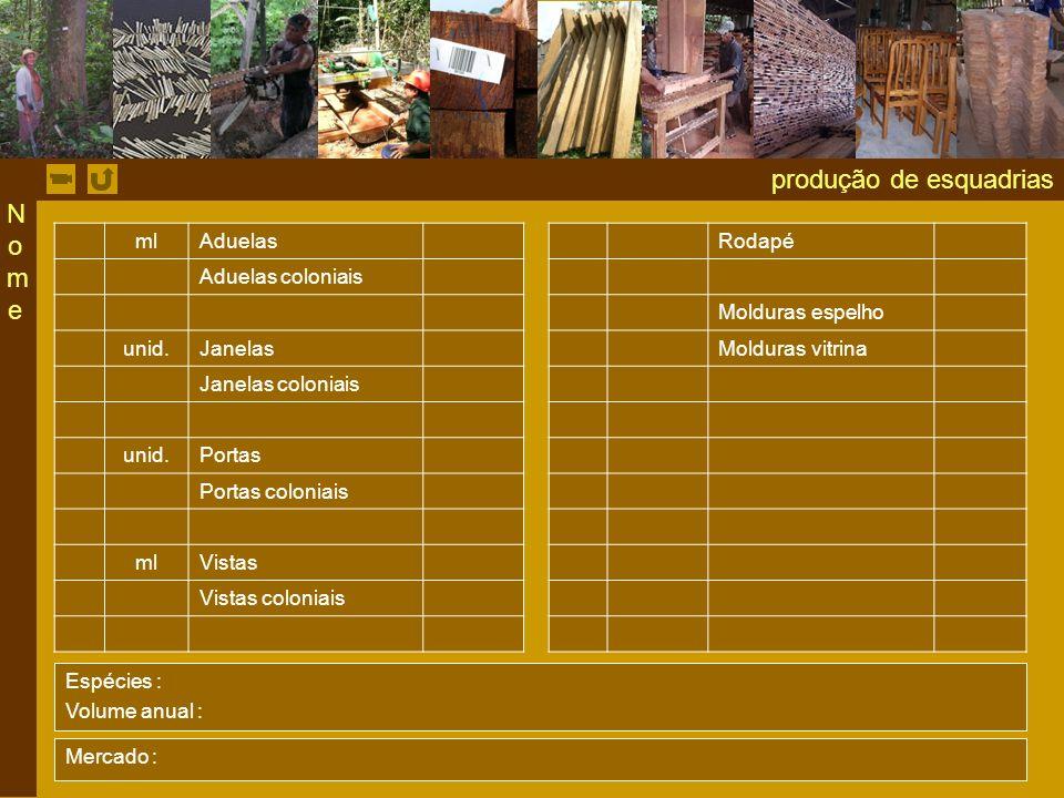 produção de esquadrias ml AduelasRodapé Aduelas coloniais Molduras espelho unid.