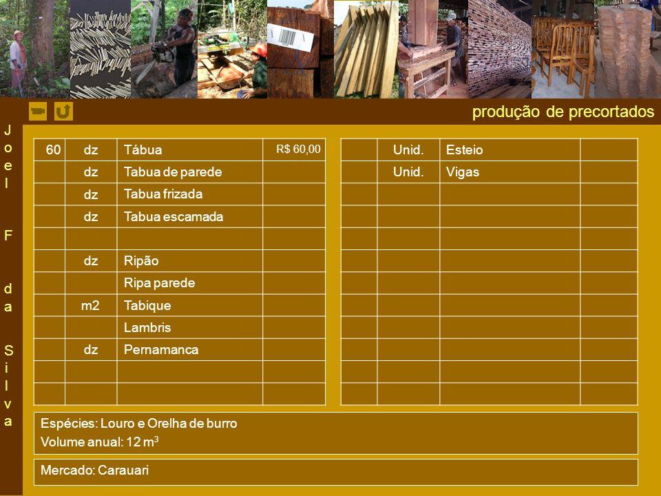 produção de precortados 60dz Tábua R$ 60,00 Unid.Esteio dz Tabua de parede Unid.