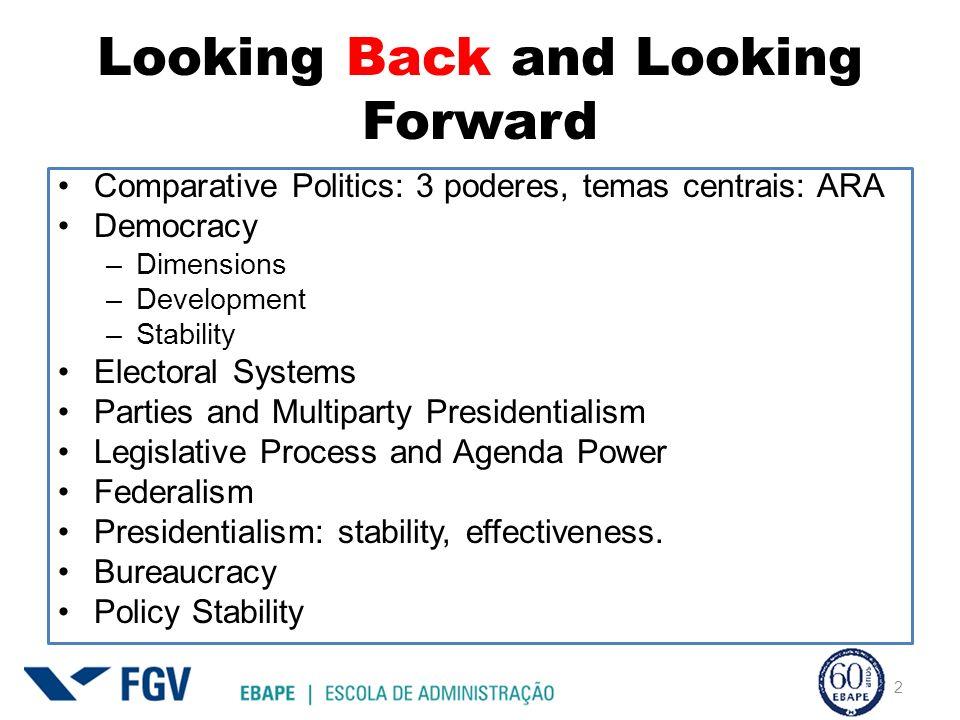 Looking Back and Looking Forward Judiciary Reforms Party Discipline Accountability Mechanisms Governability 9 aulas antes da prova final 3