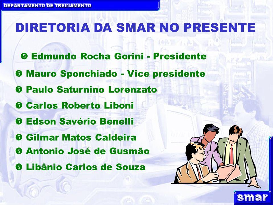 DEPARTAMENTO DE TREINAMENTO DIRETORIA DA SMAR NO PRESENTE Paulo Saturnino Lorenzato Mauro Sponchiado - Vice presidente Carlos Roberto Liboni Edmundo R