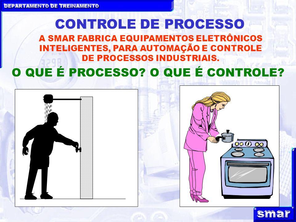 DEPARTAMENTO DE TREINAMENTO CONTROLE DE PROCESSO A SMAR FABRICA EQUIPAMENTOS ELETRÔNICOS INTELIGENTES, PARA AUTOMAÇÃO E CONTROLE DE PROCESSOS INDUSTRI