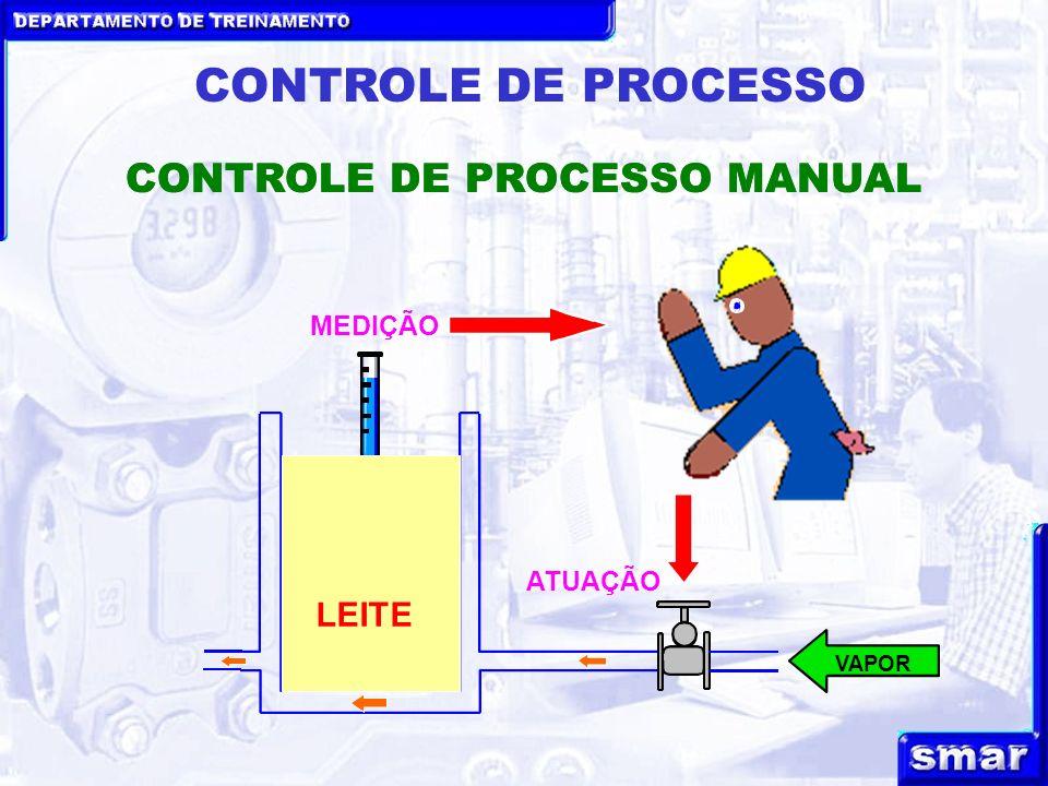 DEPARTAMENTO DE TREINAMENTO CONTROLE DE PROCESSO CONTROLE DE PROCESSO MANUAL VAPOR LEITE MEDIÇÃO ATUAÇÃO
