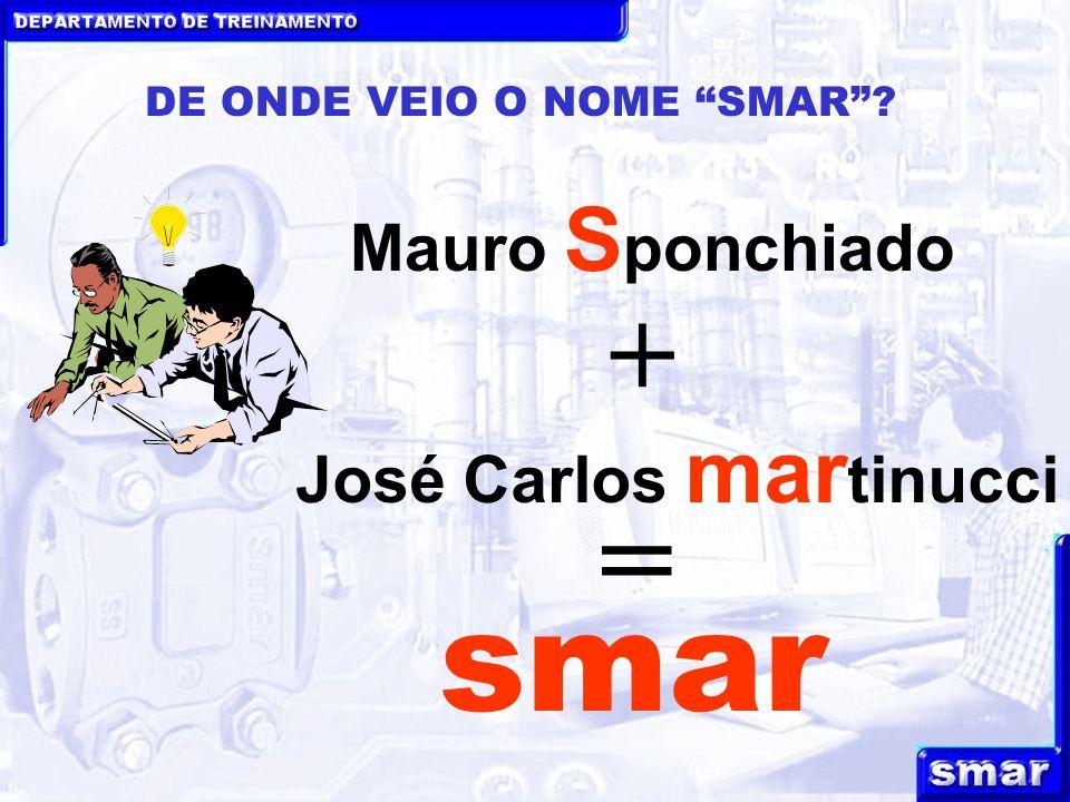 DEPARTAMENTO DE TREINAMENTO DE ONDE VEIO O NOME SMAR? Mauro S ponchiado José Carlos mar tinucci + = smar